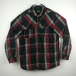 Burton quilted line flannel snap button coat